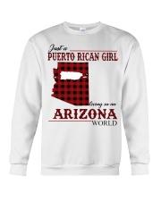 Just A Puerto Rican Girl In Arizona World Crewneck Sweatshirt thumbnail