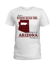 Just A Puerto Rican Girl In Arizona World Ladies T-Shirt thumbnail