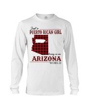 Just A Puerto Rican Girl In Arizona World Long Sleeve Tee thumbnail