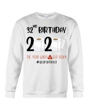 32nd Birthday 32 Years Old Crewneck Sweatshirt thumbnail