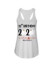 32nd Birthday 32 Years Old Ladies Flowy Tank thumbnail