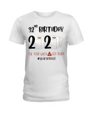 32nd Birthday 32 Years Old Ladies T-Shirt thumbnail
