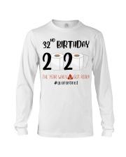32nd Birthday 32 Years Old Long Sleeve Tee thumbnail