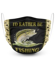 I'D Rather BE Fishing 2 Layer Face Mask - Single front
