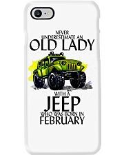 Never Underestimate Old Lady Jeep February Phone Case thumbnail