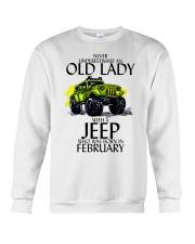 Never Underestimate Old Lady Jeep February Crewneck Sweatshirt thumbnail