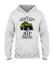 Never Underestimate Old Lady Jeep February Hooded Sweatshirt thumbnail