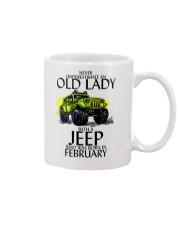 Never Underestimate Old Lady Jeep February Mug thumbnail