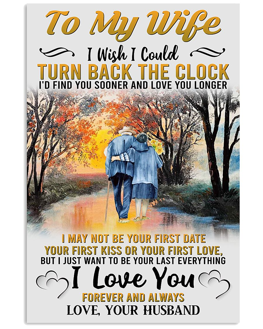 To My Wife From Husband 24x36 Poster