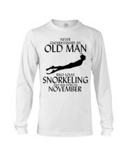 Never Underestimate Old Man Snorkeling November Long Sleeve Tee thumbnail