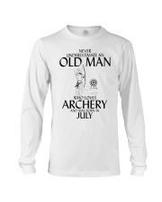 Never Underestimate Old Man Archery July  Long Sleeve Tee thumbnail