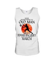 Old Man Tennis Racquet March Unisex Tank thumbnail