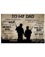 To My Dad From Son-Hunting 24x16 Poster front