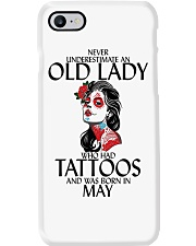 Never Underestimate Old Lady Tattoos May Phone Case thumbnail