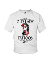 Never Underestimate Old Lady Tattoos May Youth T-Shirt thumbnail