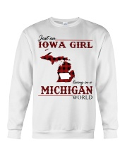 Just An Iowa Girl In michigan Crewneck Sweatshirt thumbnail