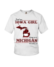 Just An Iowa Girl In michigan Youth T-Shirt thumbnail