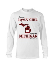 Just An Iowa Girl In michigan Long Sleeve Tee thumbnail