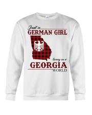 Just A German Girl In Georgia World Crewneck Sweatshirt thumbnail
