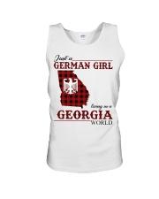Just A German Girl In Georgia World Unisex Tank thumbnail