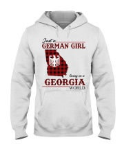 Just A German Girl In Georgia World Hooded Sweatshirt thumbnail