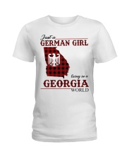 Just A German Girl In Georgia World Ladies T-Shirt thumbnail
