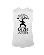 Never Underestimate Woman Tai Chi October  Sleeveless Tee thumbnail
