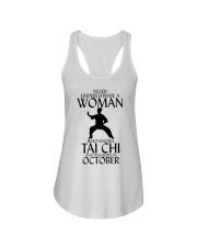 Never Underestimate Woman Tai Chi October  Ladies Flowy Tank thumbnail