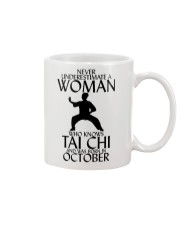 Never Underestimate Woman Tai Chi October  Mug thumbnail