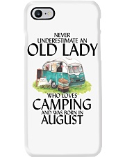 Never Underestimate Old Lady Camping August Phone Case thumbnail