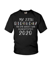 My 27th Birthday The One Where I Was 27 years old  Youth T-Shirt thumbnail
