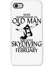 Never Underestimate Old Man Skydiving February Phone Case thumbnail