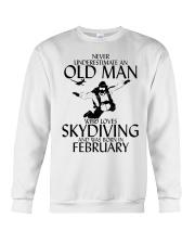 Never Underestimate Old Man Skydiving February Crewneck Sweatshirt thumbnail