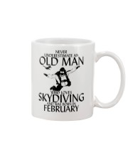 Never Underestimate Old Man Skydiving February Mug thumbnail
