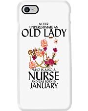 Never Underestimate Old Lady Nurse January Phone Case thumbnail