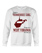 Just A Tennessee Girl In West Virginia World Crewneck Sweatshirt thumbnail