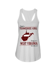 Just A Tennessee Girl In West Virginia World Ladies Flowy Tank thumbnail