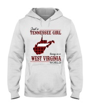 Just A Tennessee Girl In West Virginia World Hooded Sweatshirt thumbnail
