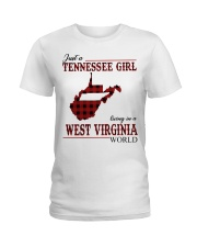 Just A Tennessee Girl In West Virginia World Ladies T-Shirt thumbnail