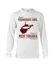Just A Tennessee Girl In West Virginia World Long Sleeve Tee thumbnail