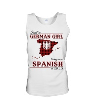 Just A German Girl In Spanish World Unisex Tank thumbnail