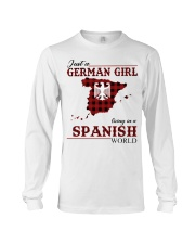 Just A German Girl In Spanish World Long Sleeve Tee thumbnail