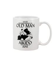 Never Underestimate Old Man Aikido June Mug thumbnail