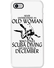 Never Underestimate Old Woman Scuba DivingDecember Phone Case thumbnail