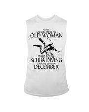 Never Underestimate Old Woman Scuba DivingDecember Sleeveless Tee thumbnail