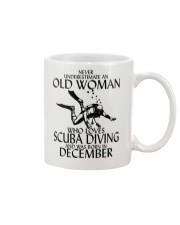 Never Underestimate Old Woman Scuba DivingDecember Mug thumbnail
