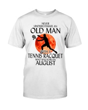Old Man Tennis Racquet August Classic T-Shirt front