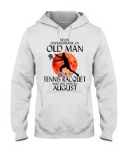 Old Man Tennis Racquet August Hooded Sweatshirt thumbnail