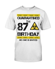 87th Birthday 87 Years Old Classic T-Shirt front