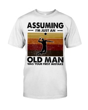 Assuming I'm Just An Old Man Volleyball Classic T-Shirt front